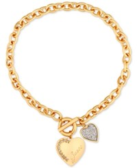 Guess Toggle Collar Necklace Gold