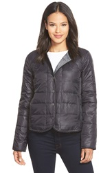 Eileen Fisher Round Neck Down Puffer Jacket Black