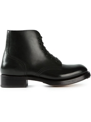 Dsquared2 Military Style Ankle Boots Black