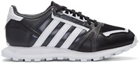 Adidas X White Mountaineering Black Leather Racing 1 Sneakers