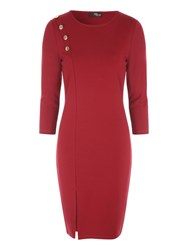 Jane Norman Button Detail Dress Berry