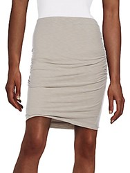 James Perse Ruched Pencil Skirt Black