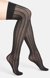 Women's Vince Camuto Openwork Knit Thigh High Socks Online Only