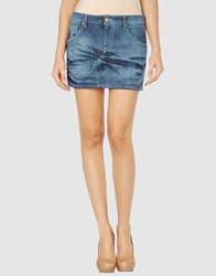Exte Denim Denim Skirts Women Blue