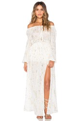 Loveshackfancy Smocked Maxi Dress White