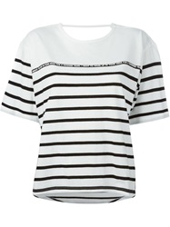 Each X Other Striped T Shirt White