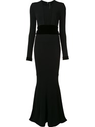 Alexandre Vauthier Semi Sheer Panel Dress Black