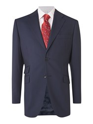 Howick Branson Fine Stripe Suit Jacket Navy