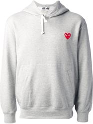 Comme Des Garcons Play Hooded Sweatshirt Grey