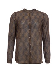 Garcia Printed Shirt Brown