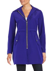 Jane Post Microfiber Parka Cobalt Blue