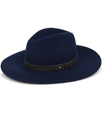 Rag And Bone Wide Brim Fedora Hat Navy