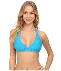 Prana Lahari Halter Top Vivid Blue Women's Swimwear
