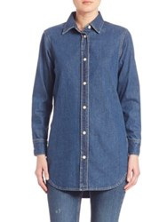 Mih Jeans Button Down Denim Shirt Arrow Blue