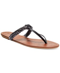 Roxy Jade T Strap Braided Thong Sandals Women's Shoes Black