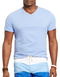 Polo Big And Tall Classic Fit Jersey V Neck T Shirt Blue