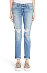 Rag And Bone Women's Rag And Bone Jean 'The Dre' Distressed Slim Fit Boyfriend Jeans Carter