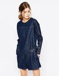 See By Chloe Denim Pattern Dress Blue