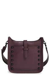 Rebecca Minkoff Mini Feed Bag Burgundy Dark Cherry Black Hrdwr
