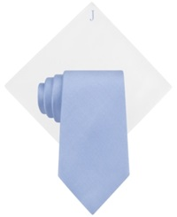Club Room Monogrammed Crane Unsolid Tie And Solid Pocket Square Set J