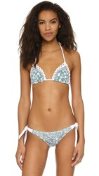 Tigerlily Hungarian Wallpaper Tara Bikini Top Sea Emerald