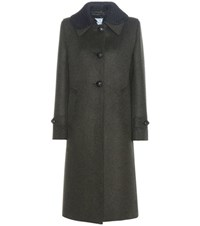 Prada Virgin Wool Coat Green