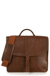 Men's Timberland 'Calexico' Leather Briefcase Brown Glazed Ginger