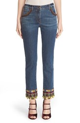 Etro Women's Beaded And Embroidered Crop Jeans