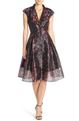 Sachin Babi Women's And Noir 'Emesta' Woven Fit And Flare Gown