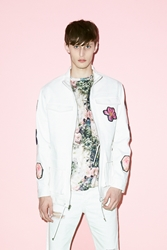 Opening Ceremony Collage Patch Military Jacket White Multi