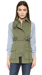 Marissa Webb Gavin Canvas Vest Military Green