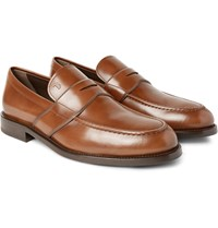 Tod's Polished Leather Penny Loafers Brown