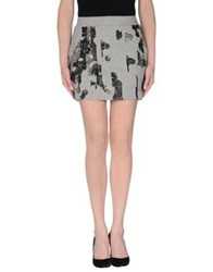 Religion Mini Skirts Grey