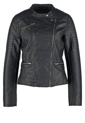 Only Onlnew Faux Leather Jacket Black