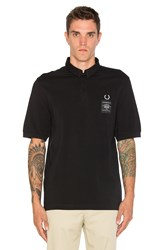 Fred Perry X Art Comes First Woven Collar Pique Shirt Black