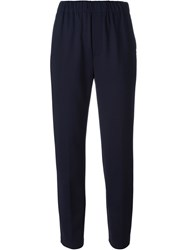 Forte Forte Slim Fit Trousers Blue