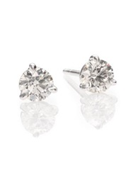 Kwiat Diamond And Platinum Stud Earrings 1 Tcw