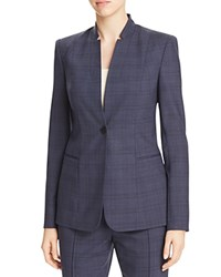Elie Tahari Tori Plaid Blazer 100 Bloomingdale's Exclusive Navy