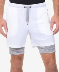 2Xist 2 X Ist Men's Activewear Mesh Shorts White