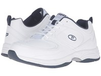 Propet Warner White Navy Men's Shoes