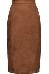 Raoul Suede Midi Skirt Brown