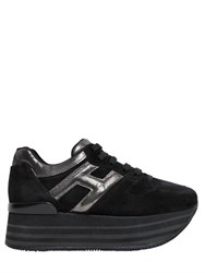 Hogan 70Mm Suede And Leather Platform Sneakers