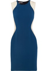 Stella Mccartney Eliana Tulle Paneled Stretch Cady Dress Petrol