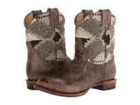 Stetson Serape Round Toe Ankle Boot Brown Cowboy Boots