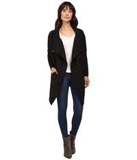 Brigitte Bailey Chiara Long Sleeve Cardigan Black Women's Sweater