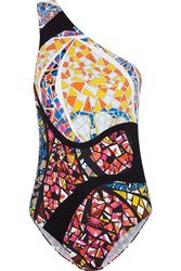 Emilio Pucci One Shoulder Printed Swimsuit
