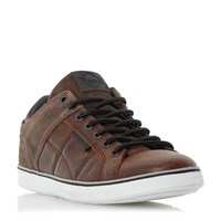 Dune Tobey Quilted Panel Trainers Brown