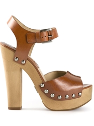 Kors By Michael Kors 'Annabell' Platform Sandals Brown