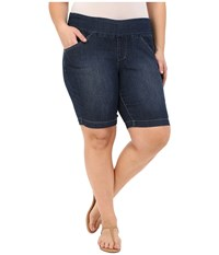 Jag Jeans Plus Size Ainsley Bermuda In Anchor Blue Comfort Denim Anchor Blue Women's Shorts