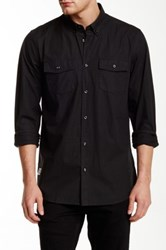 Wesc Ivo Long Sleeve Relaxed Fit Shirt Black